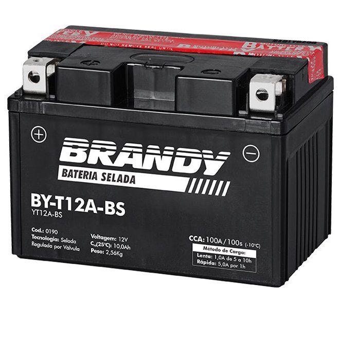 Bateria BY-T12A-BS - Dafra Horizon 250  - Race Custom
