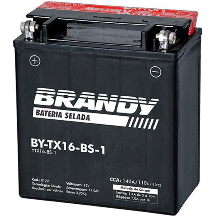 Bateria BY-TX16-BS-1 -  Intruder 1400-1500 e Boulevard 1500  - Race Custom