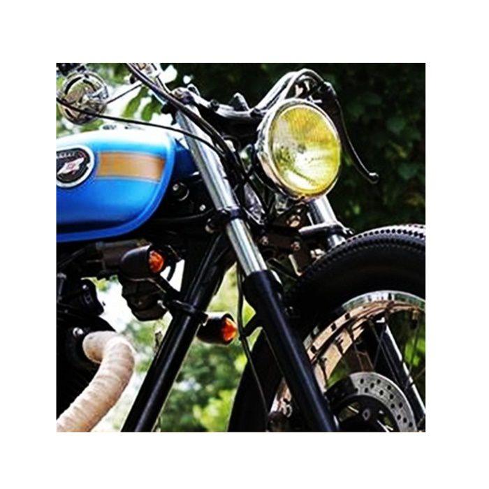 Bloco Óptico Farol Harley Sportster e Dyna - Amarelo  - Race Custom