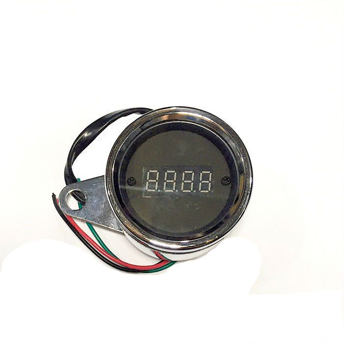 Contagiros Mini Cromado Digital para Motos de 1 Cilindro  - Race Custom
