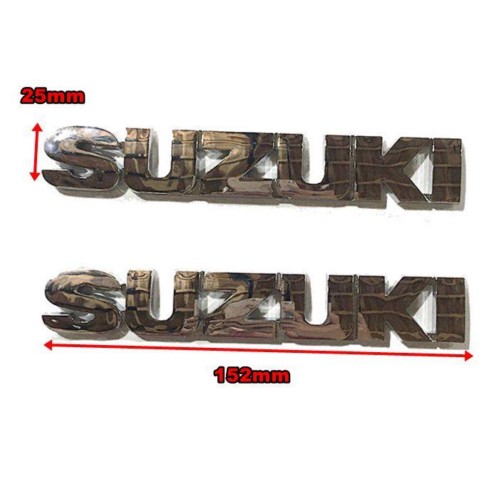 Emblema de Tanque Suzuki  ABS Cromado - PAR  - Race Custom
