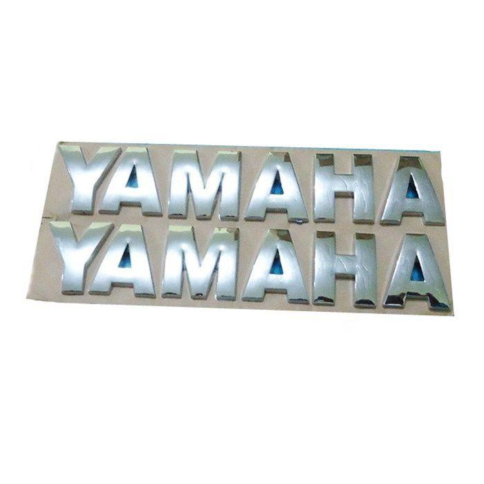 Emblema de Tanque Yamaha Cromado - PAR  - Race Custom