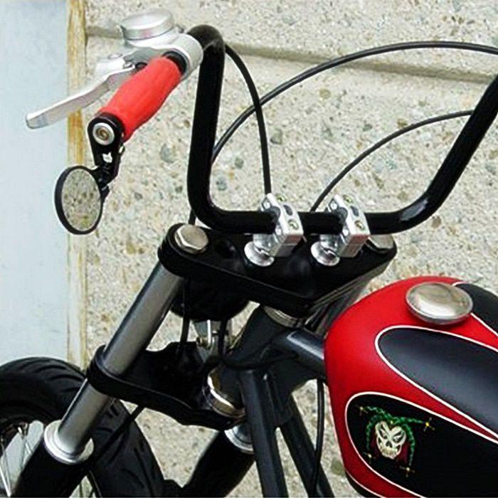 Espelho Retrovisor Café Racer Preto - PAR  - Race Custom