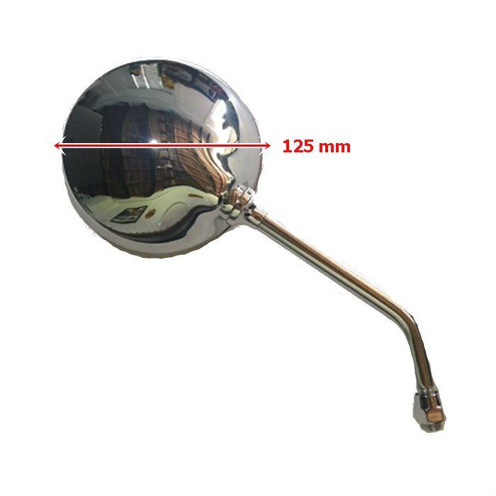 Espelho Retrovisor Redondo Cromado Lente Convexa - Bilateral Unid  - Race Custom
