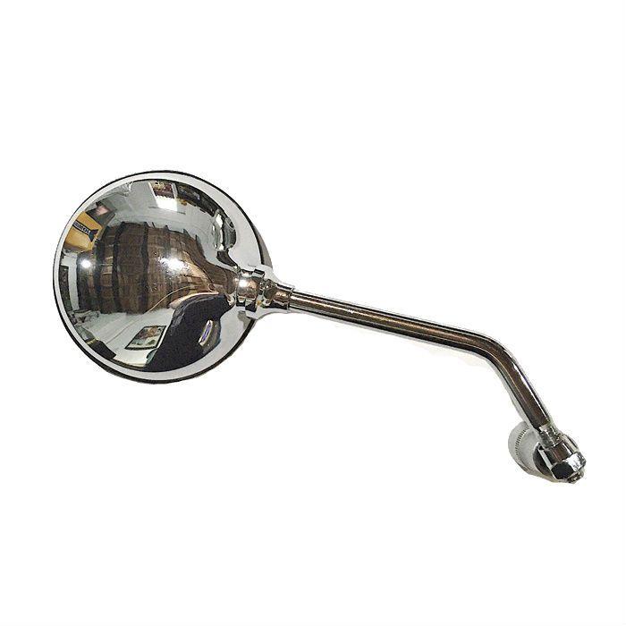 Espelho Retrovisor Redondo Cromado Médio - PAR  - Race Custom