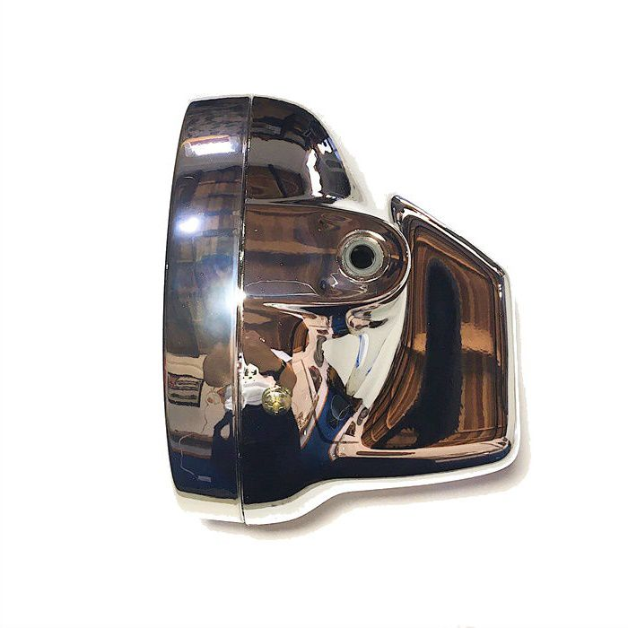 Farol Café Racer 170 mm Cromado com Lâmpada H4 35-35W  - Race Custom
