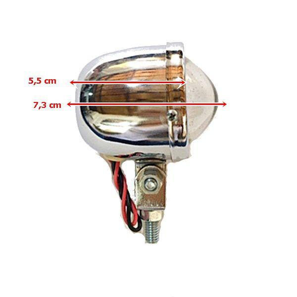 Farolete Mini em Metal Cromado - PAR  - Race Custom