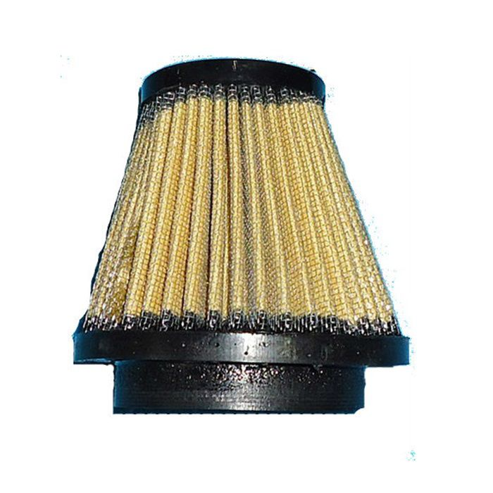Filtro de Ar Cone Lavável Conexão 55 mm - Amarelo  - Race Custom