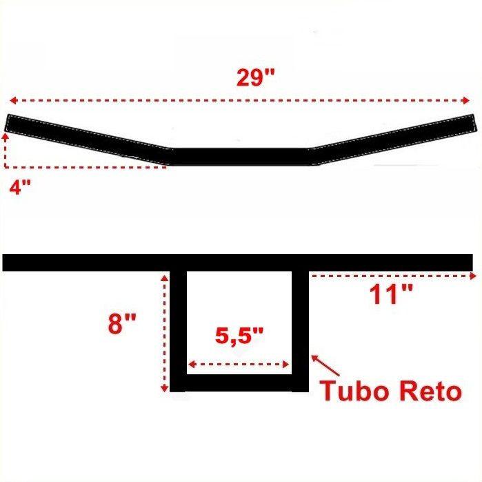 Guidão 1 Pol. T Bar SOA - Preto Fosco  - Race Custom