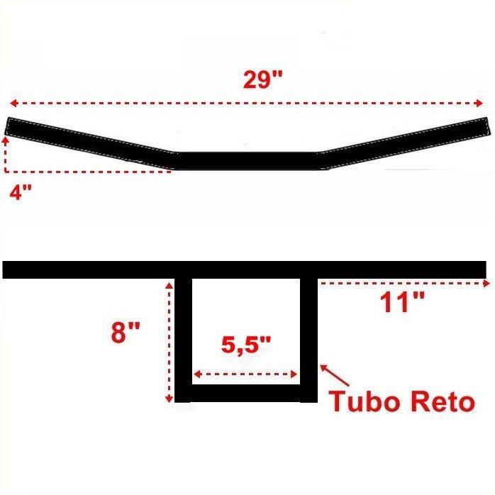 Guidão 7/8 T Bar SOA - Preto Fosco  - Race Custom