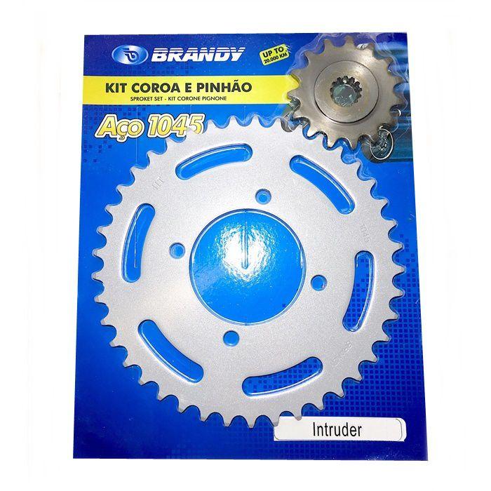 Kit Relação - Coroa e Pinhão - Intruder 250 - Brandy  - Race Custom