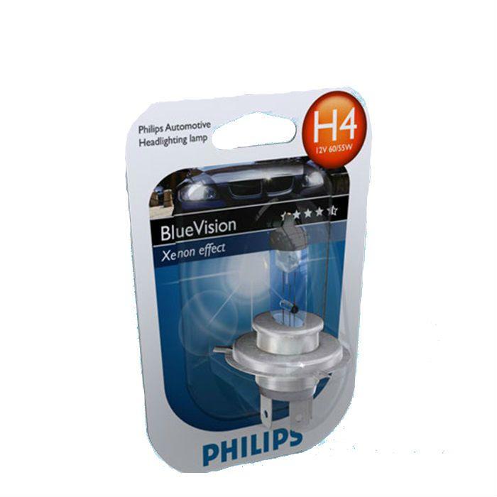 Lâmpada Farol H4 60-55W Philips  Blue Vision Efeito Xenon  - Race Custom