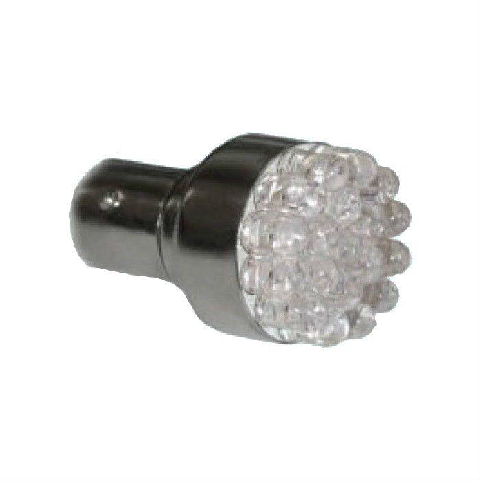 Lâmpada Pisca Grande LED 1156 1157 12V Base Ferro Laranja Ambar  - Race Custom