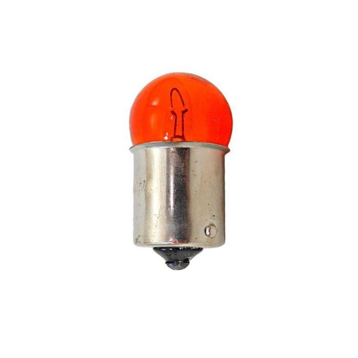 Lâmpada Pisca Pequena 12v 10w Base Ferro Laranja Ambar  - Race Custom