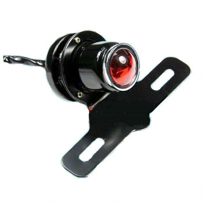 Lanterna Shotgun Cafe Racer Com Suporte de Placa  - Race Custom