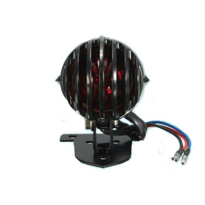 Lanterna Traseira  Bobber Preta com Grade - Pequena  - Race Custom