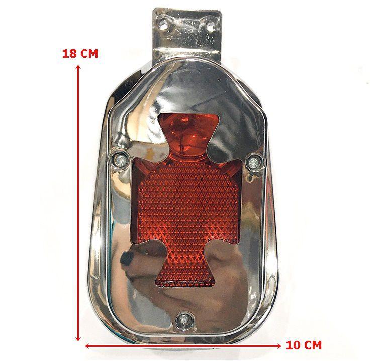 Lanterna Traseira Capela Cruz de Malta com luz de Placa  - Race Custom