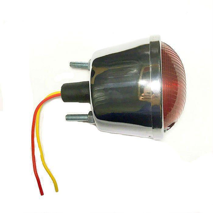 Lanterna Traseira Para Customizações em Metal Cromado  - Race Custom