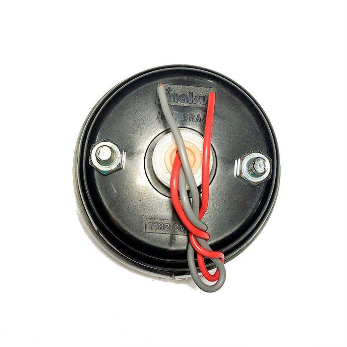 Lanterna Traseira Para Customizações em Plástico com Filete Cromado  - Race Custom