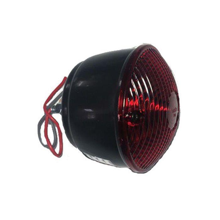 Lanterna Traseira Para Customizações em Plástico Preta  - Race Custom