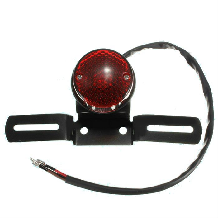 Lanterna Traseira Redonda Bobber Cafe Chopper  - Race Custom
