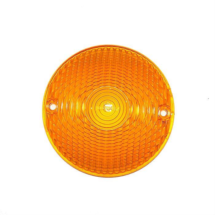 Lente Redonda Lanterna Traseira Customizações - Amarela  - Race Custom