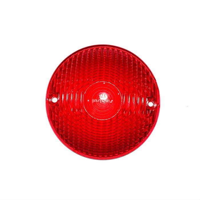 Lente Redonda Lanterna Traseira Customizações - Vermelha  - Race Custom