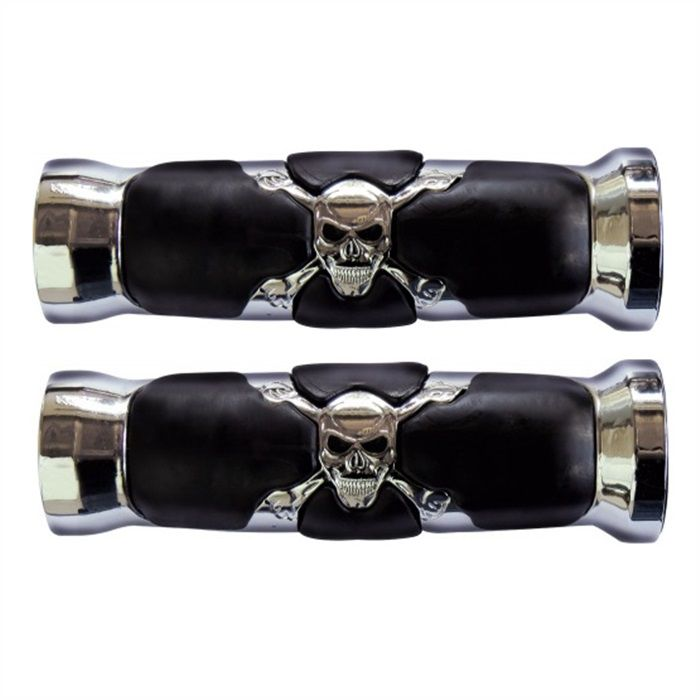 Manopla Custom Skull Caveira Cromada Com Roldana - 1 Pol.  - Race Custom