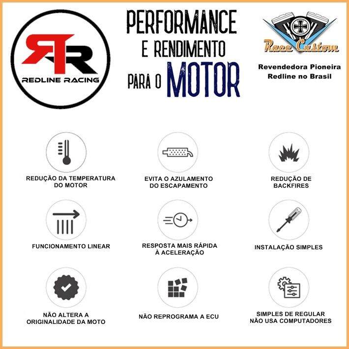 Módulo de potência - Harley Davidson VSRC V-Rod Todas - Redline  - Race Custom