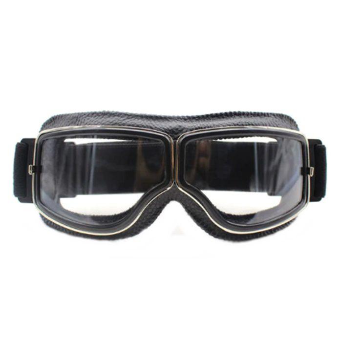 Óculos Aviador Old School Preto Lentes Cristal  - Race Custom