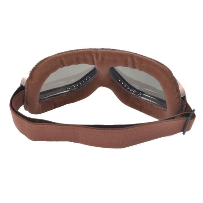 Óculos Old School Clássico Aviador Aro Bronze e Lentes Cristal  - Race Custom