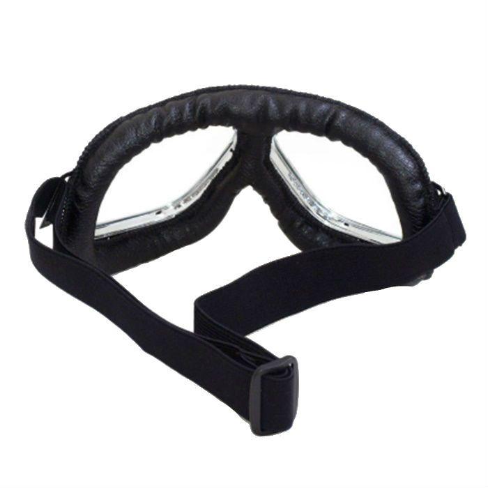Óculos Old School Clássico Aviador Aro Cromado Lentes Cristal  - Race Custom