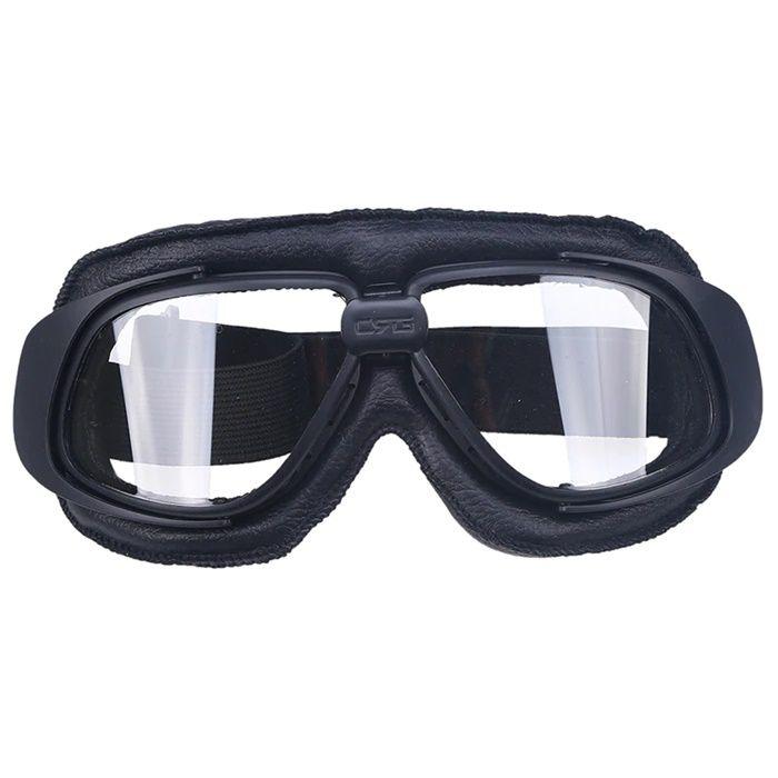 Óculos Old School Clássico Aviador Aro Preto e Lentes Cristal  - Race Custom