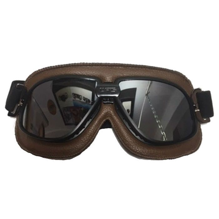 Óculos Old School Clássico Aviador Aro Preto e Lentes Espelhadas - Marrom  - Race Custom