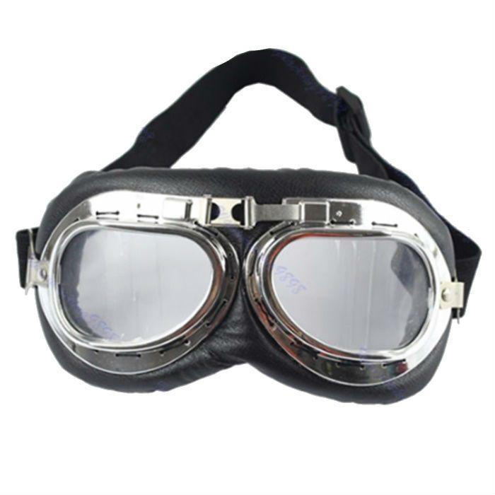 Óculos Old School Goggles Aviador Aro Cromado e Lentes Cristal  - Race Custom