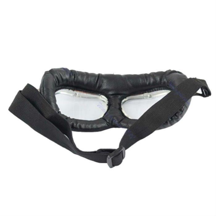 Óculos Old School Goggles Aviador Aro Preto e Lentes Cristal  - Race Custom
