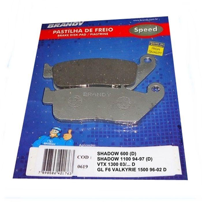 Pastilha de Freio Shadow 600-750 até 2005 (D); Horizon 250 (D) Bonneville a partir 2001 (D)  - Race Custom