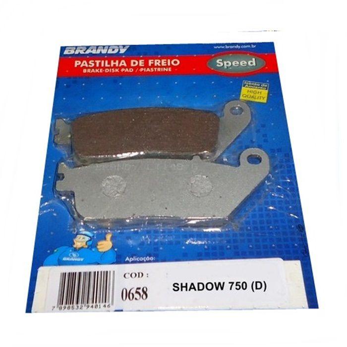 Pastilha de Freio Shadow 750 06-10 (D) Sem ABS  - Race Custom