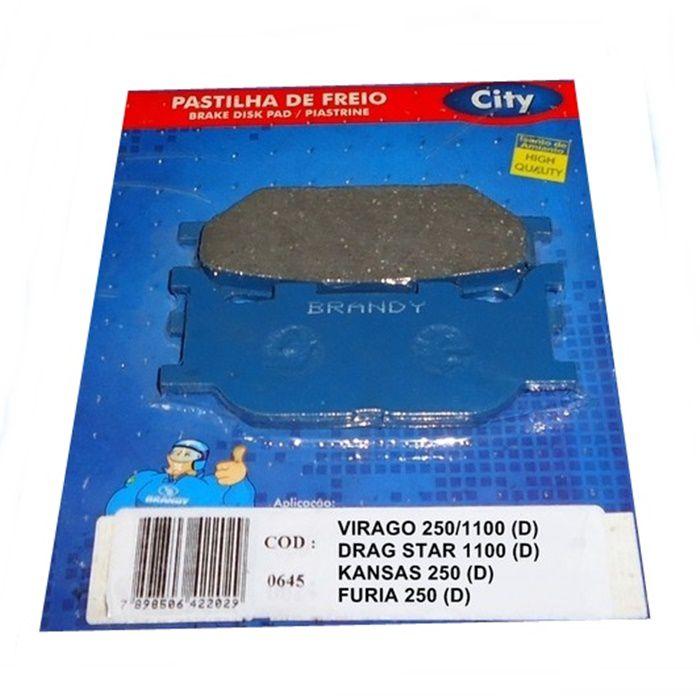 Pastilha de Freio Virago XV 250 (D) Virago XV 1100 (D) e Horizon 150 (D)  - Race Custom