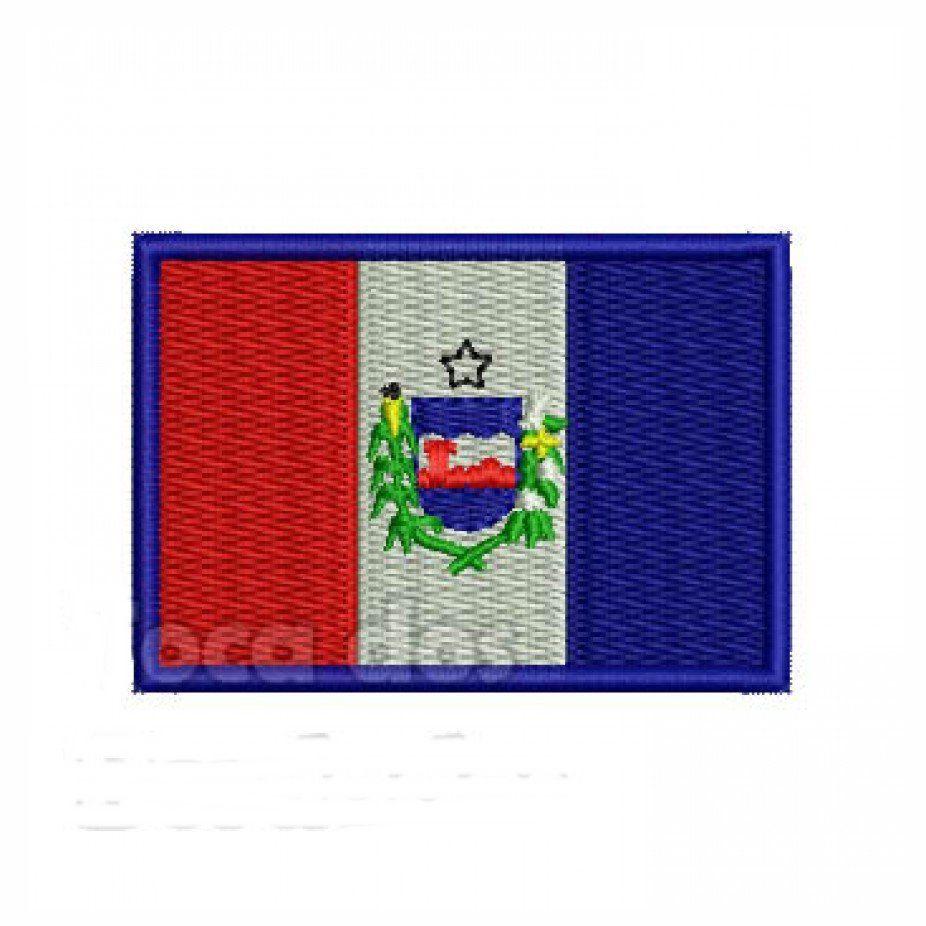 Patch Bordado Bandeira Alagoas - 5 x 7 Cm  - Race Custom