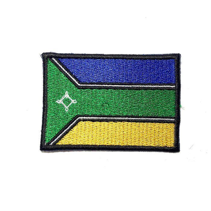 Patch Bordado Bandeira Amapa - 5 x 7 Cm  - Race Custom