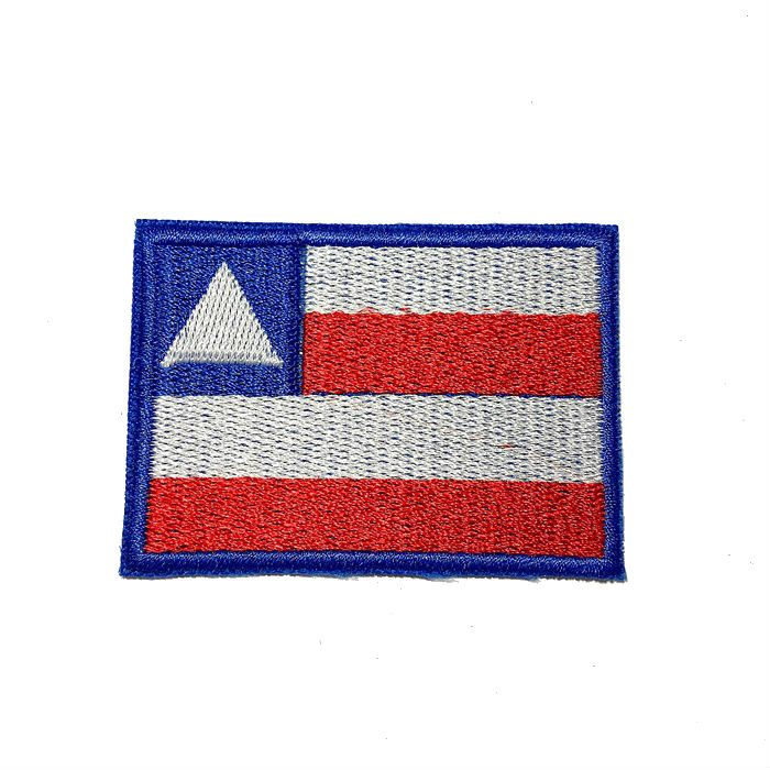 Patch Bordado Bandeira Bahia - 5 x 7 Cm  - Race Custom