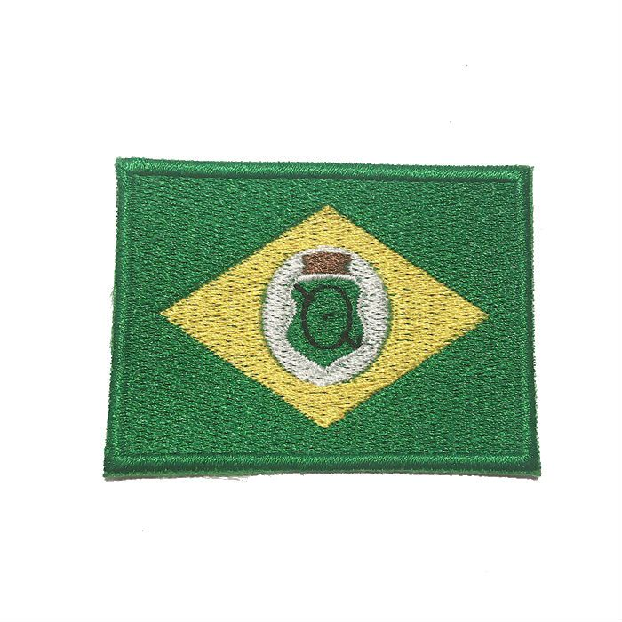 Patch Bordado Bandeira Ceará - 5 x 7 Cm  - Race Custom