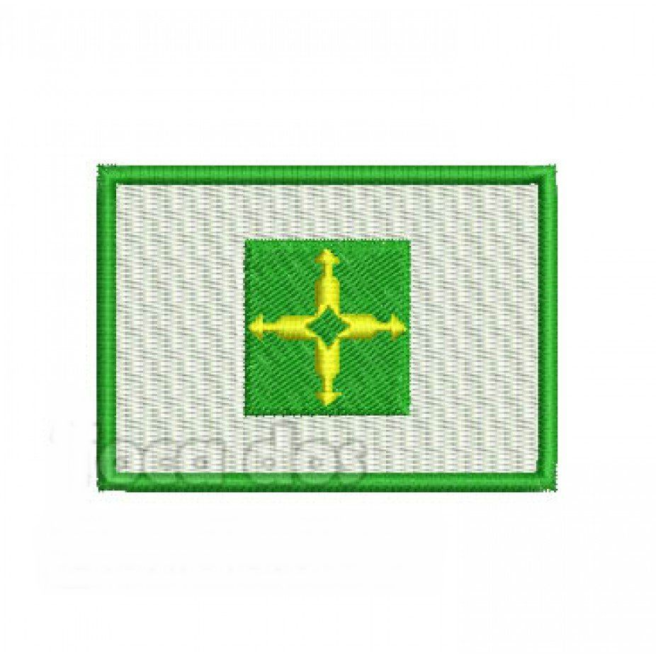 Patch Bordado Bandeira Distrito Federal - 5 x 7 Cm  - Race Custom