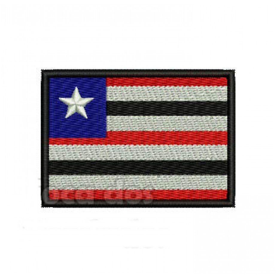 Patch Bordado Bandeira Maranhão - 5 x 7 Cm  - Race Custom