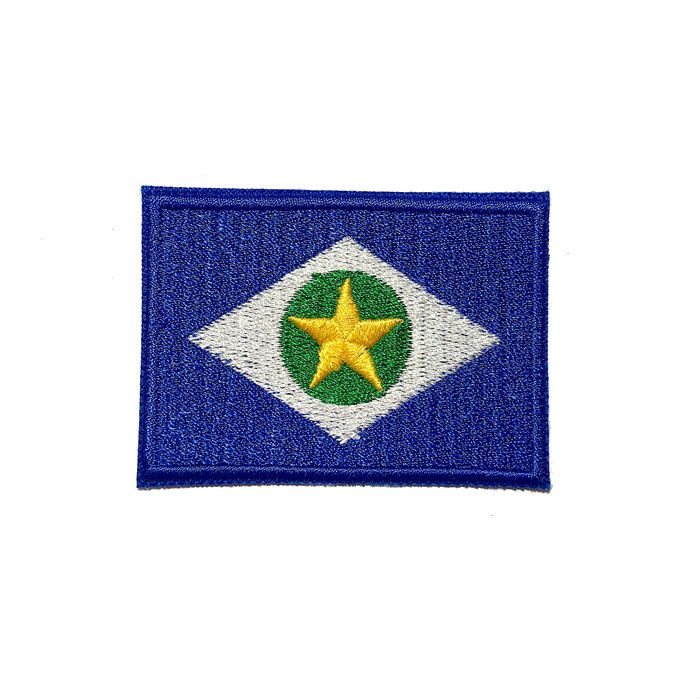 Patch Bordado Bandeira Mato Grosso - 5 x 7 Cm  - Race Custom