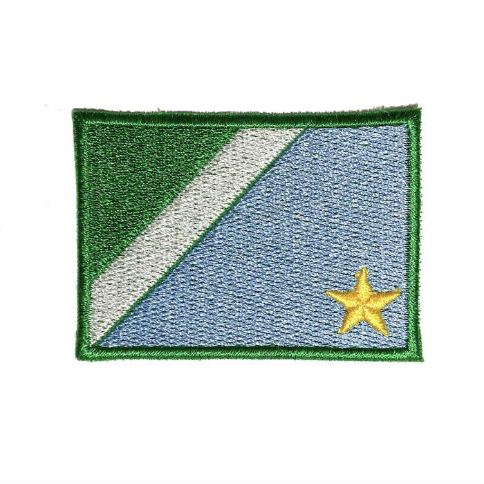 Patch Bordado Bandeira Mato Grosso do Sul - 5 x 7 Cm  - Race Custom