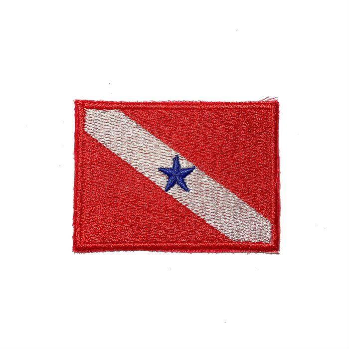 Patch Bordado Bandeira Pará - 5 x 7 Cm  - Race Custom
