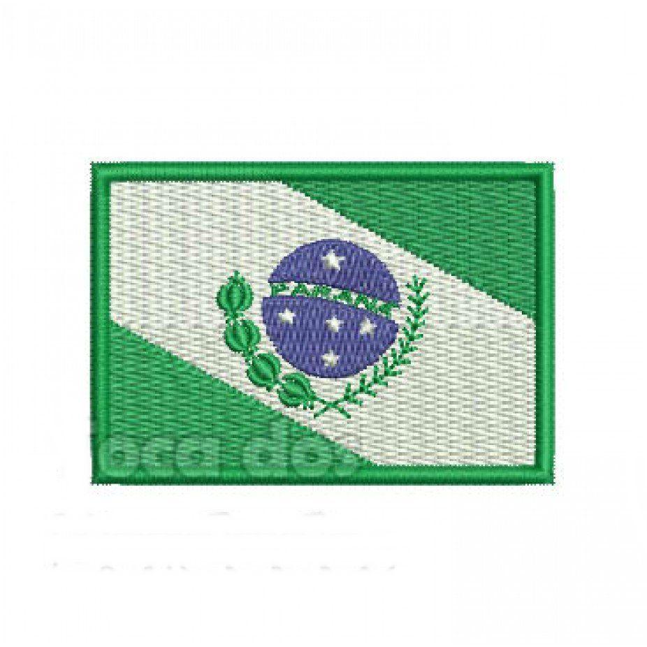 Patch Bordado Bandeira Paraná - 5 x 7 Cm  - Race Custom