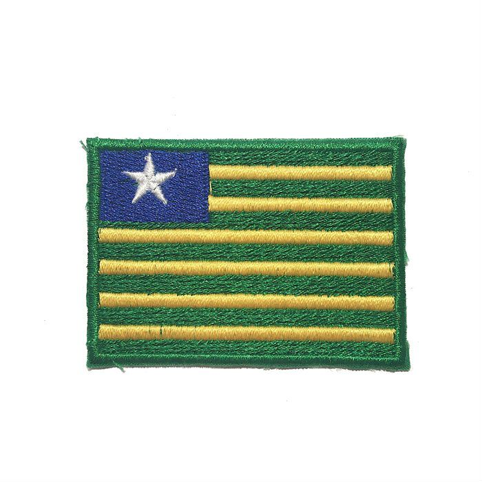 Patch Bordado Bandeira Piaui - 5 x 7 Cm  - Race Custom